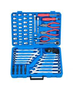 "Genius Tools 117 Piece 1/4"" & 3/8"" Dr. Metric & SAE Tool Set - AC-23117"