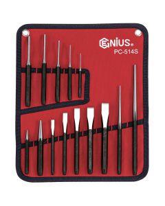 Genius Tools 14 Piece SAE Punch & Chisel Set - PC-514S