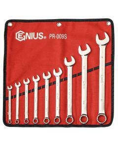Genius Tools 9 Piece SAE Combination Wrench Set (Mirror Finish) - PR-009S