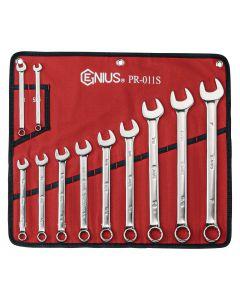 Genius Tools 11 Piece SAE Combination Wrench Set (Mirror Finish) - PR-011S