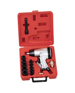 """Genius Tools 16 Piece 1/2"""" Dr. SAE Air Impact Wrench Set - TF-416S1"""