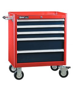 Genius Tools 5 Drawer Roller Cabinet, 686 x 466 x 666mm - TS-465