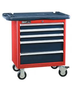 Genius Tools 5 Drawer Roller Cabinet (w/ Top Tray), 686 x 466 x 666mm - TS-465P