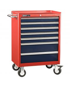 Genius Tools 7 Drawer Roller Cabinet, 686 x 466 x 820mm - TS-467