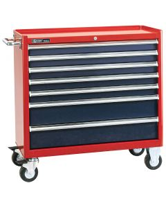 Genius Tools 7 Drawer Roller Cabinet, 980 x 463 x 820mm - TS-468
