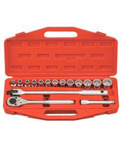 "Genius Tools 16 Piece 1/2"" Dr. Metric Hand Socket Set (12-Point) - TW-416M"