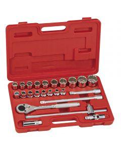 "Genius Tools 24 Piece 1/2"" Dr. Metric Hand Socket Set (12-Point) - TW-424M"