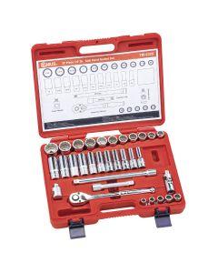 "Genius Tools 32 Piece 1/2"" Dr. SAE Hand Socket Set (12-Point) - TW-432S"
