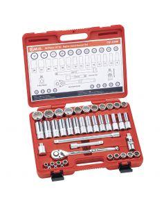 "Genius Tools 39 Piece 1/2"" Dr. Metric Hand Socket Set (12-Point) - TW-439M"