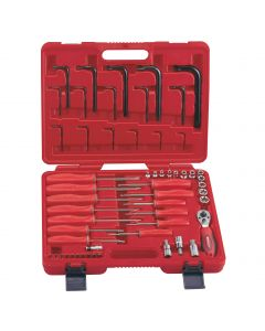 """Genius Tools 56 Piece 1/2"""" Dr. Complete Star Type Wrench Set - TX-2356"""