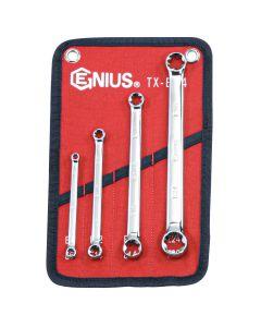 Genius Tools 4 Piece E-Star Wrench Set - TX-E04