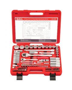 "Genius Tools 87 Piece 1/4"" & 1/2"" Dr. Metric Master Tool Set - AC-2487"