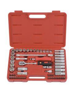 Genius Tools 59 Piece Metric Hand Socket & Bit Set AC-359A