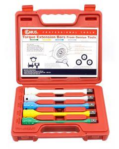 "Genius Tools 5 Piece 1/2"" Dr. Torque Extension Bar / Torque Stick Set - TO-405EXT"