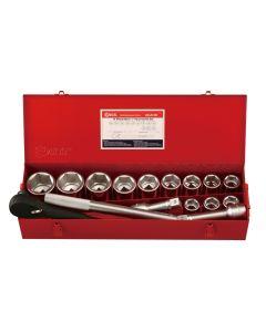 "Genius Tools 15 Piece 1"" Dr. Metric Hand Socket Set (CR-Mo) - GS-815M"