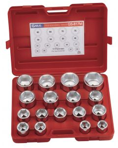 "Genius Tools 17 Piece 1"" Dr. Metric Hand Socket Set (CR-Mo) - GS-817M"
