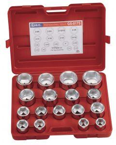 "Genius Tools 17 Piece 1"" Dr. SAE Hand Socket Set (CR-Mo) - GS-817S"