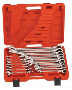 Genius Tools 17 Piece Metric Combination Ratcheting Wrench Set - GW-7617M