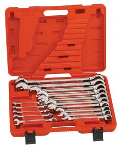 Genius Tools 15 Piece SAE Combination Ratcheting Wrench Set - GW-7715S
