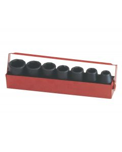 Genius Tools 7 Piece Metric Impact Socket Set TF-407