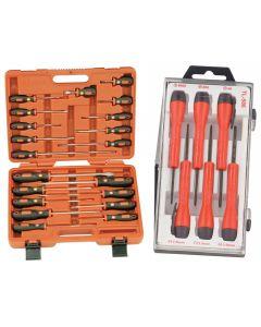 Genius Tools 20 Piece Combination Screwdriver Set - TR-520PZ And Genius Tools 6 Piece Micro-Tech Screwdriver Set - TL-506