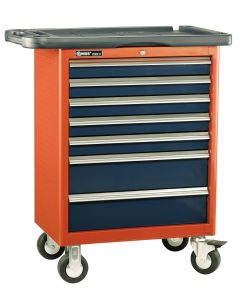 Genius Tools 7 Drawer Roller Cabinet (w/ Top Tray), 686 x 466 x 820mm - TS-467P